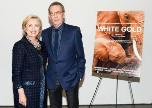 Arne Glimcher and Hillary Clinton at premiere of White Gold